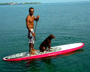 Luis and Coco Stand up Paddle